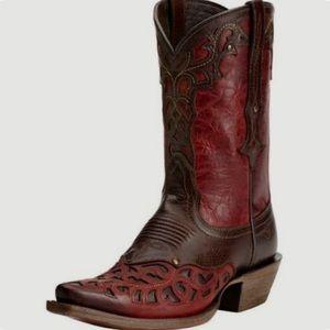 Ariat ladies Veracruz red/brown western boots 6.5